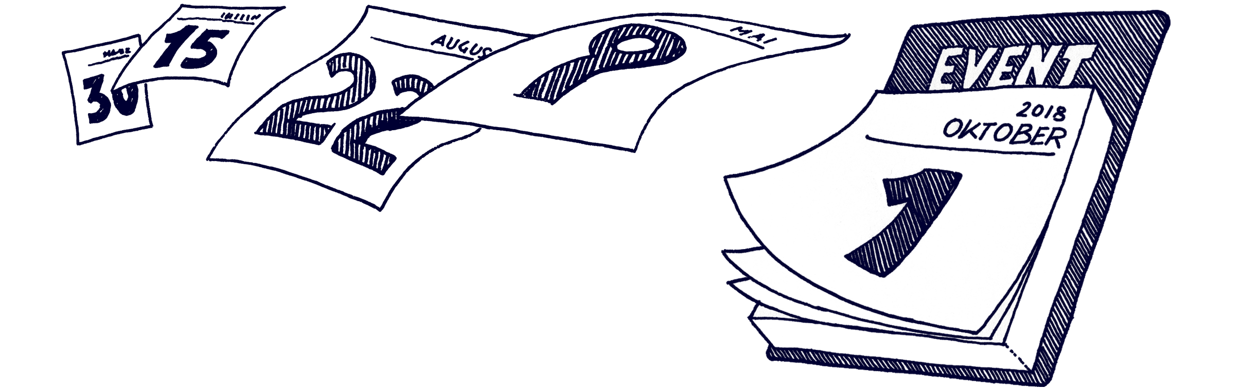 Veranstaltungen | Haslinger / Nagele, Illustration: Karlheinz Wasserbacher