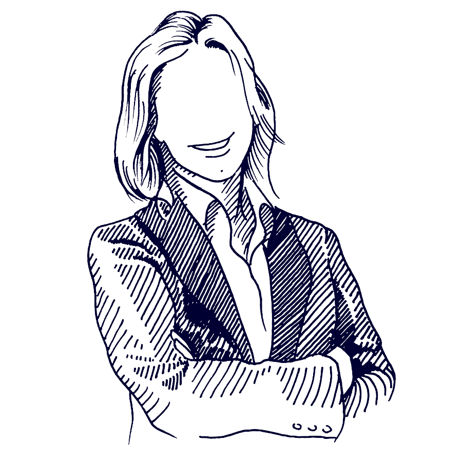 Portrait Frau anonym | Haslinger / Nagele, Illustration: Karlheinz Wasserbacher