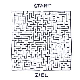 Labyrinth Sujet Studierende | Haslinger / Nagele, Illustration: Karl-Heinz Wasserbacher