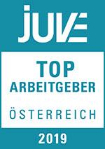 Logo JUVE Top Arbeitgeber Österreich 2019