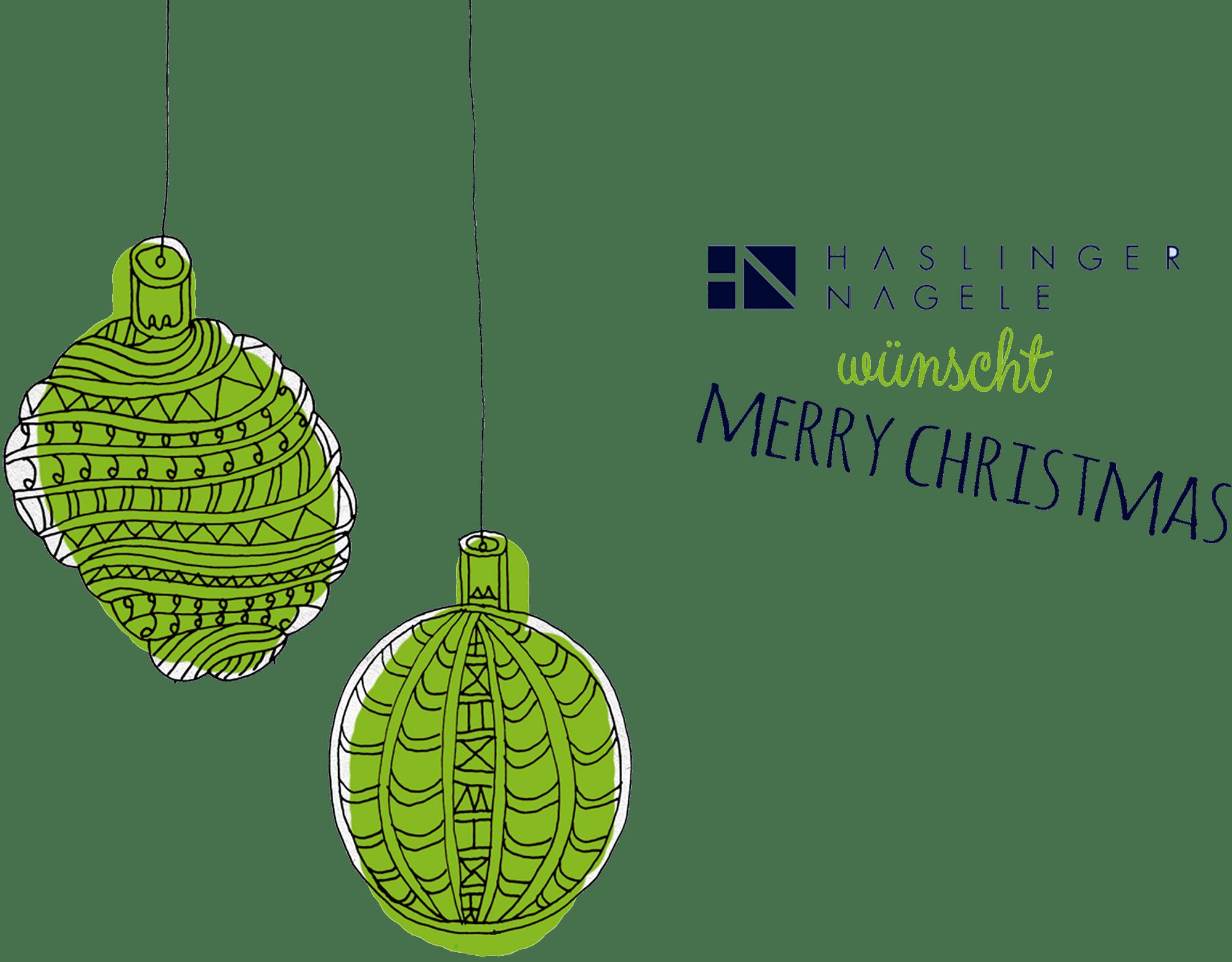 Haslinger / Nagele Merry Christmas. Illustration: Konrad Wartbichler