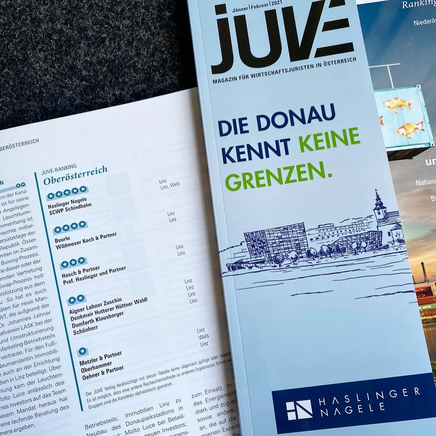 Haslinger / Nagele beim JUVE Bundesländerranking in OÖ auf Platz 1