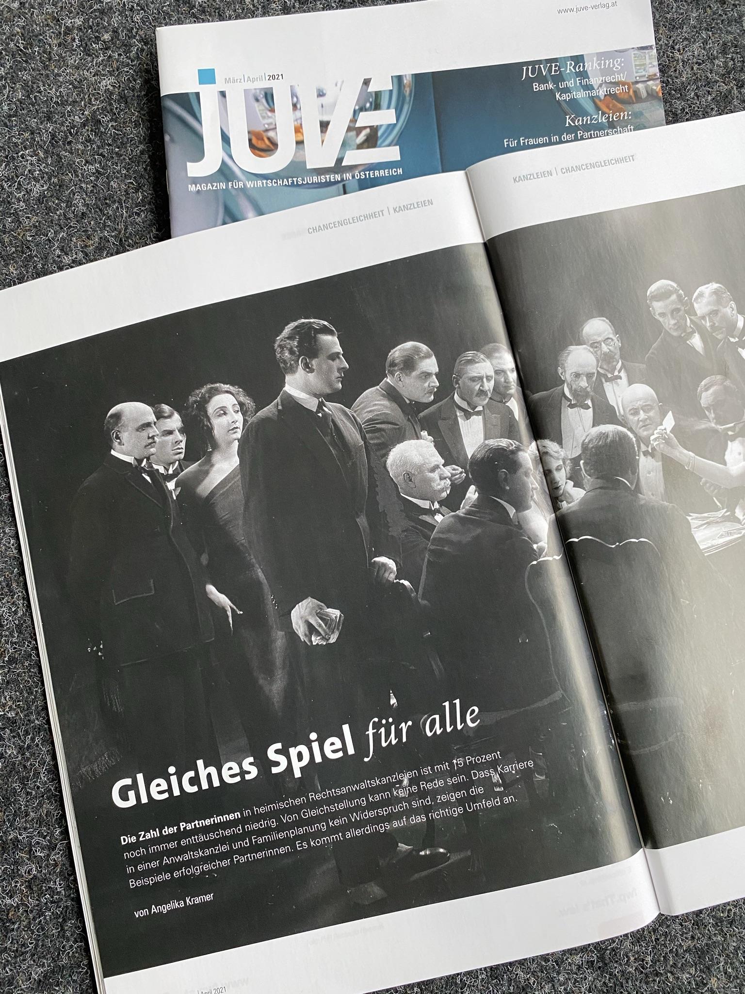 JUVE Magazin Beitrag Chancengleichheit