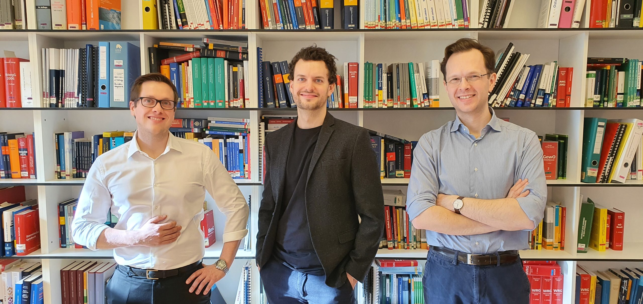 Gruppenbild Kernteam Mario Laimgruber, Kaleb Kitzmüller, Johannes Hartlieb