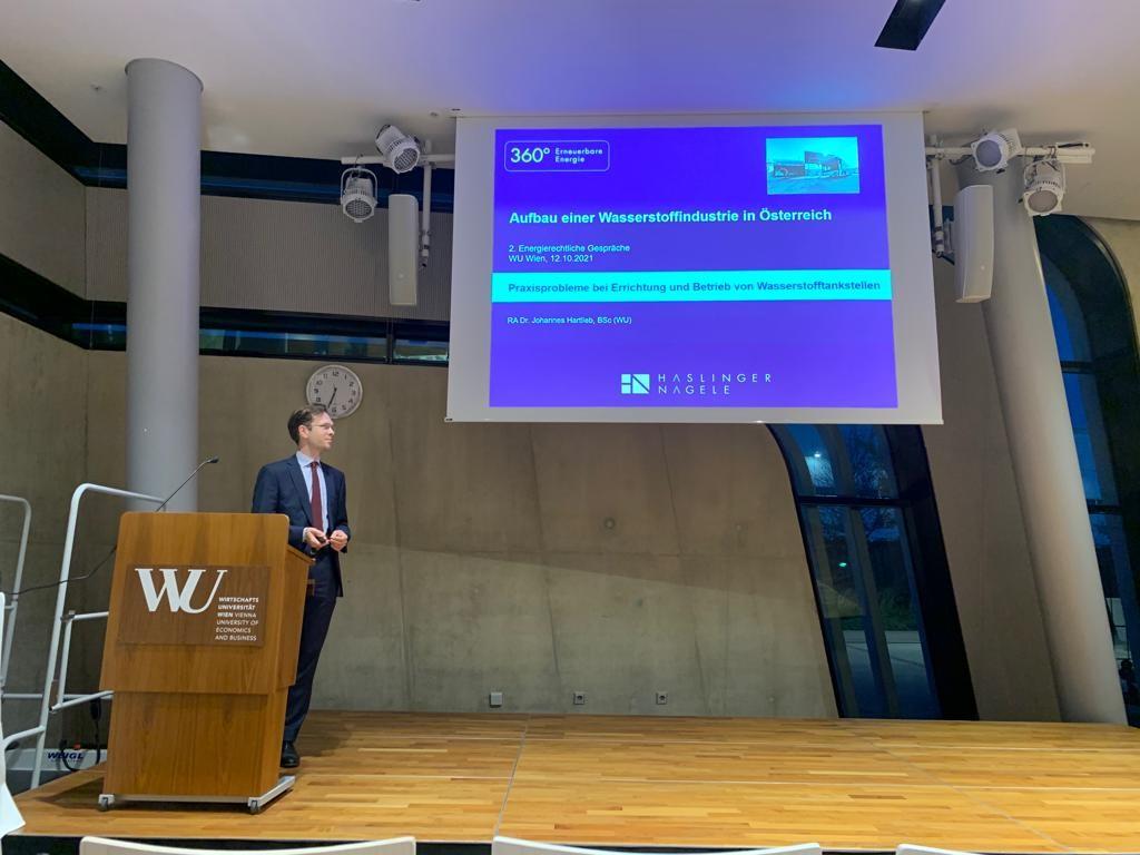 Vortrag Aufbau einer Wasserstoffindustrie in Österreich